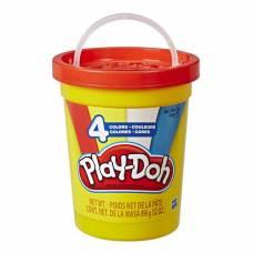Набор пластилина Play-Doh в большой банке, красный, 4 цвета Hasbro