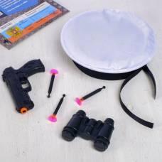 Игровой набор оружия, с головным убором «Смелый моряк» (пистолет, бинокль, берет, присоски 3 шт.) WOOW TOYS