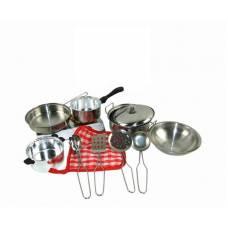 Набор металлической игрушечной посуды