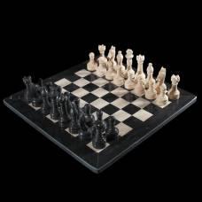 Шахматы «Элит»,темная  доска 30х30 см, оникс Sima-Land