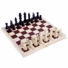 Настольная игра 2в1: шашки d=2.6 см, шахматы, король h=8 см, пешка h=3.5 см, поле 30х30 см Sima-Land