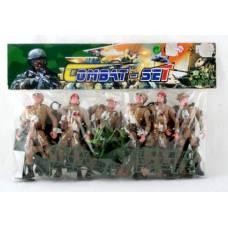 Военный набор Combat Set с 6 солдатами и аксессуарами Shenzhen Toys