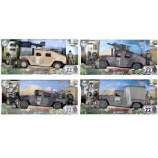 Игровой набор Humvee с 2 фигурками, 1:18 World Peacekeepers