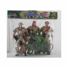 Игровой набор Combat Set, 3 солдата с аксессуарами