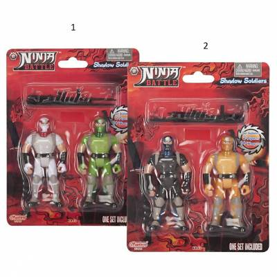 Набор из 2 фигурок Ninja Battle, 10 см Manley