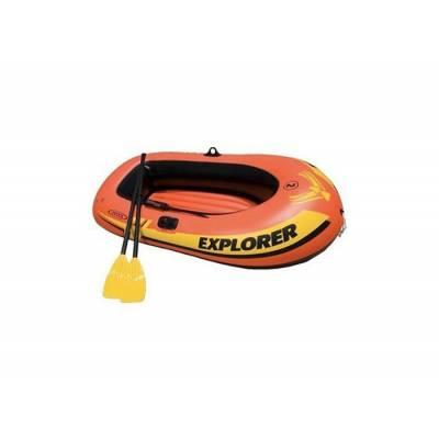 Надувная лодка Explorer 200 с веслами и насосом Intex