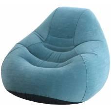Надувное кресло Beanless Bag Deluxe, синее Intex
