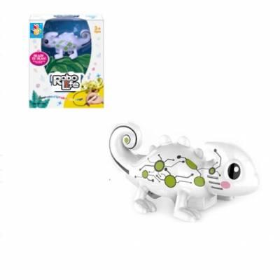 Интерактивное животное Robo Life - Робо-хамелеончик (свет, звук, меняет цвет) 1TOY