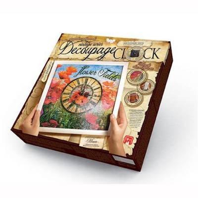 Набор для творчества Decoupage Clock с рамкой Данко Тойс / Danko Toys