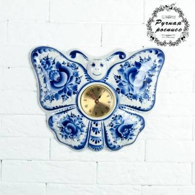Часы «Бабочка», 23,5×29 см, гжель Sima-Land