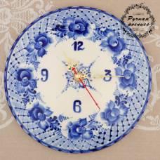 Часы настенные , гжель, фарфор, d=20 см Sima-Land
