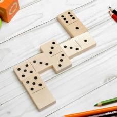 Домино деревянное, деревянная коробка, 28 плашек Десятое Королевство