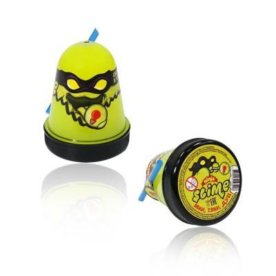 Лизун Ninja Slime (светится в темноте), желтый, 130 гр. Волшебный мир