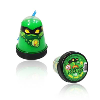 Лизун Ninja Slime (светится в темноте), зеленый, 130 гр. Волшебный мир