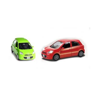 Инерционная коллекционная машинка Nissan March, 1:32 RMZ City