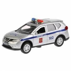 Металлическая машина Nissan X-Trail - Полиция (свет, звук), 12 см Технопарк