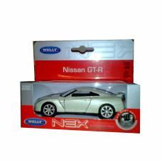 Коллекционная модель автомобиля Nissan GT-R, бежевая, 1:34-39 Welly