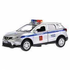 Металлическая машина Nissan Qashqai - Полиция (свет, звук), 12 см  Технопарк