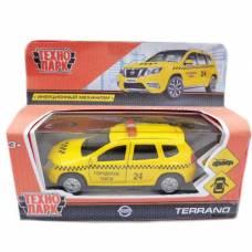 Инерционная машина Nissan Terrano - Такси, 12 cм Технопарк