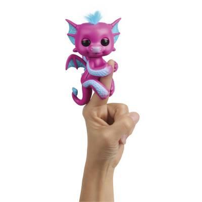 Интерактивная игрушка Fingerlings - Дракон Сенди, 12 см WowWee