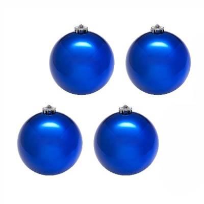 Синие елочные шары, 10 см, 4 шт. Snowmen