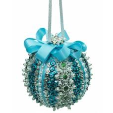 Набор для создания новогоднего шара, голубой Волшебная мастерская