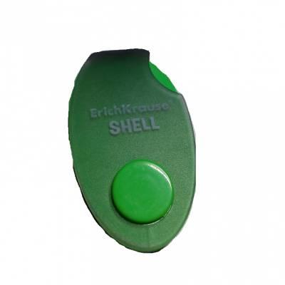 Ластик в пластиковом футляре Shell, зеленый Erich Krause