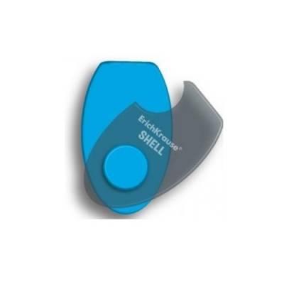 Ластик в пластиковом футляре Shell, голубой Erich Krause