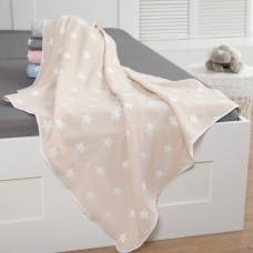 Одеяло детское «Крошка Я» Бежевые звёзды 140×200, жаккард, 100% хлопок Крошка Я