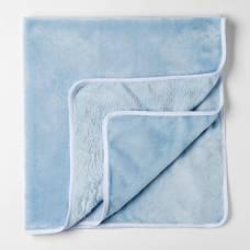 Плед детский  нежно голубой 90х100см, велсофт 260г/м пэ100% Детская линия