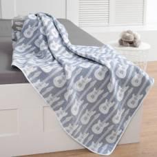 Одеяло детское «Крошка Я» Гитара 140×200 цвет синий, жаккард, 100% хлопок Крошка Я
