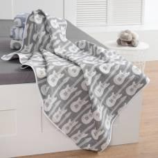 Одеяло детское «Крошка Я» Гитара 140×200 цвет серый, жаккард, 100% хлопок Крошка Я