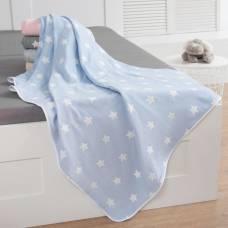 Одеяло детское «Крошка Я» Голубые звёзды 140×200, жаккард, 100% хлопок Крошка Я