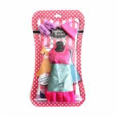Набор одежды и аксессуаров для куклы, розово-бирюзовый