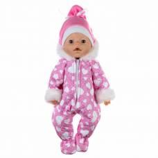 Одежда для пупса «Зимний комбинезон, шапочка», цвет розовый, р. 38-43 см КуклаПупс