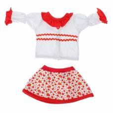 Одежда для кукол 38-43 см: блуза с юбкой Colibri