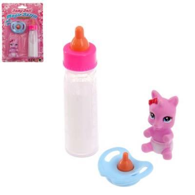 Волшебная бутылочка для кукол, набор с соской и игрушкой Sima-Land