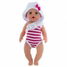Одежда для пупса «Купальник, панамка», цвет бело-розовый, р. 38-43 см КуклаПупс