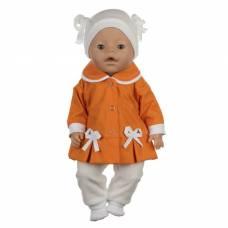 Одежда для пупса «Курточка, носочки, штанишки, шапочка», цвет оранжевый, р. 38-43 см КуклаПупс