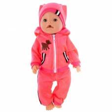 Одежда для пупса «Модный спортивный костюм», цвет розовый, р. 38-43 см КуклаПупс