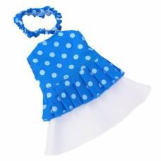Одежа для куклы Герда горошек, синяя Весна