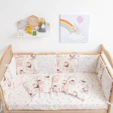 Бортик «Крошка Я: Совы», из подушечек (32 × 32 см, 12 шт.), бязь/синтепон Крошка Я