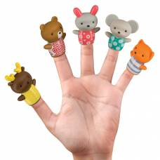 Пальчиковый театр Little Friends, 5 кукол Happy Baby
