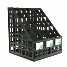 Лоток для бумаг, cборный, вертикальный, 5 отделений, чёрный Стамм