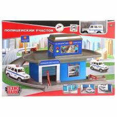 Гараж-паркинг «Полицейскийучасток», 1 металлическая машинка 7,5см Технопарк