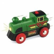 Поезд для деревянной ж/д (свет) Brio