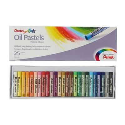 Пастель масляная 25 цветов Pentel 8/60мм, в картоне Pentel