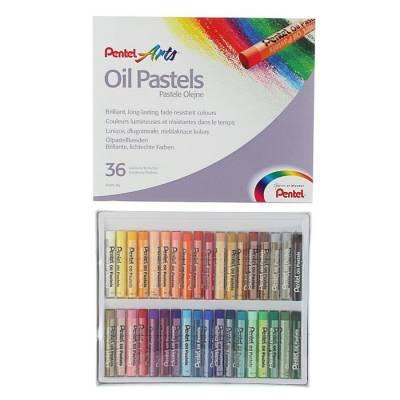 Пастель масляная 36 цветов Pentel 8/60мм, в картоне Pentel