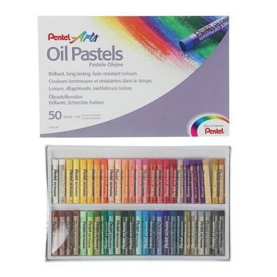 Пастель масляная 50 цветов Pentel 8/60мм, в картоне Pentel