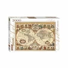 Пазл Art Collection - Историческая карта мира, 2000 элементов Step Puzzle